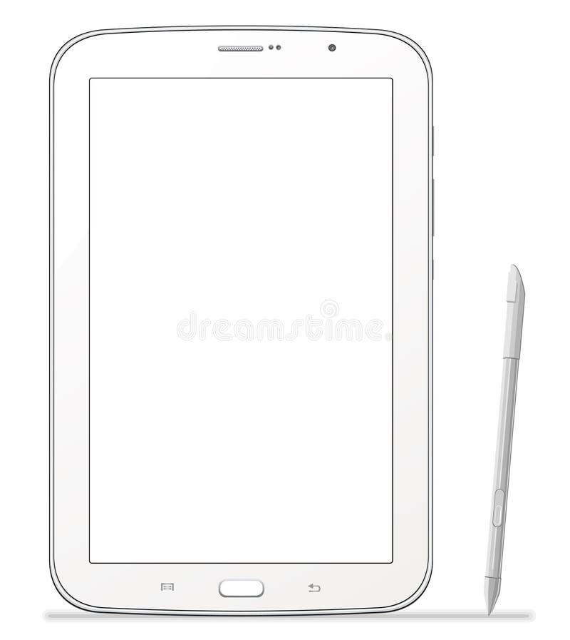 Tablet Samsung Galaxy Note 8.0. Tablet Samsung N5100 Galaxy Note 8.0 vector illustration