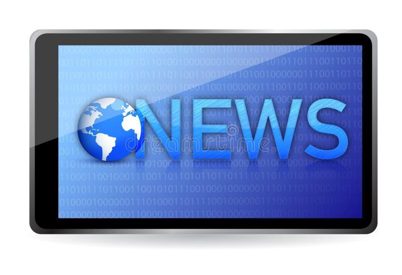 Download Tablet Showing NEWS On Screen Stock Illustration - Illustration: 28956403