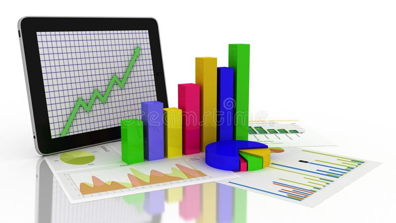 Download Tablet showing stock illustration. Image of numbers, accounting - 33162568