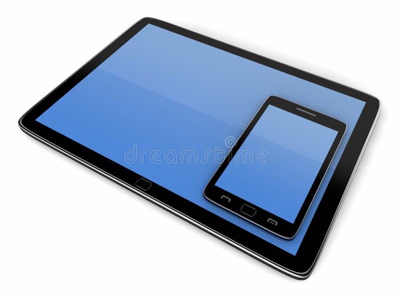 Download Tablet and smart phone stock illustration. Image of finger - 22715014