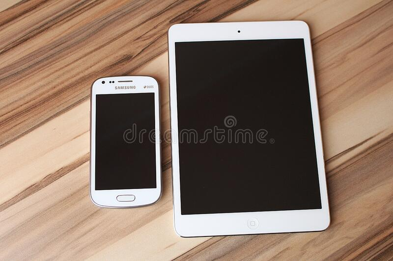 Tablet and smartphone royalty free stock images