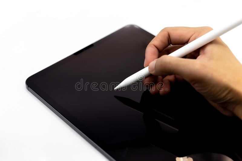 Tablet, Smartphone, image use for mobile applications and multimedia programs.  royalty free stock photo