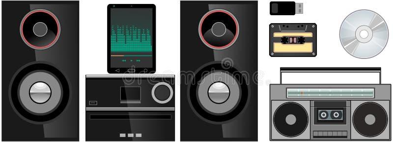 Tablet, Stereo, Hifi, CD, Usb royalty-vrije stock foto