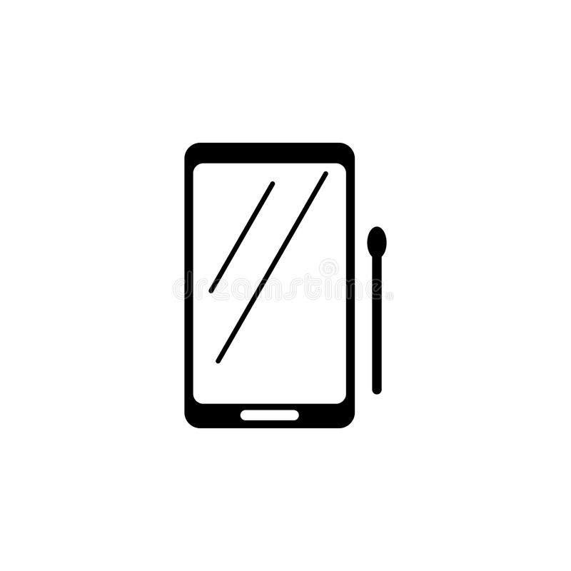 tablet with stylus icon. Element of simple icon for websites, web design, mobile app, info graphics. Signs and symbols collection royalty free illustration