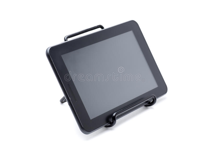 Tablet in support stock image