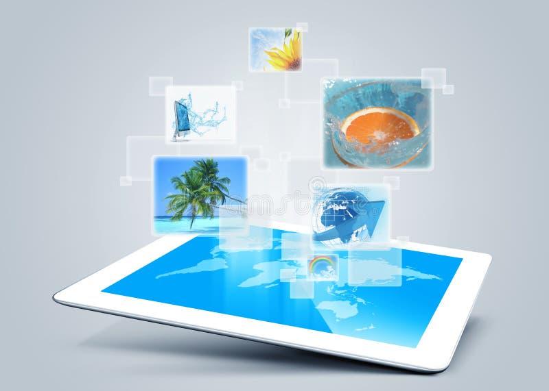 Tablet tecnology background royalty free illustration