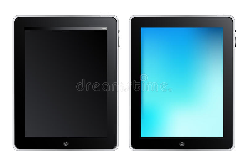 Tablet Touch Computer. Vector royalty free illustration