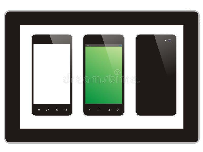 Tablet und intelligentes Telefon lizenzfreie stockfotos