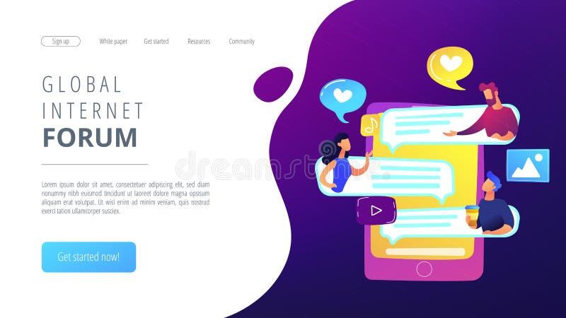 Internet forum concept vector illustration. royalty free illustration