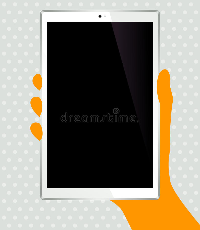 Download Tablet stock vector. Image of shiny, social, vector, work - 34226921