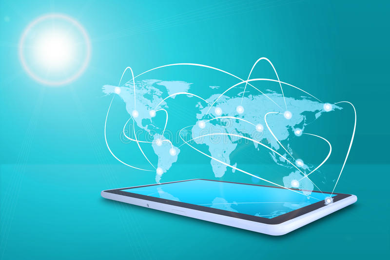 Tablet with virtual world map stock illustration illustration of download tablet with virtual world map stock illustration illustration of world virtual 53943410 gumiabroncs Choice Image