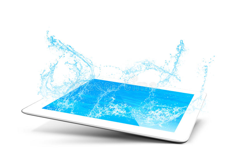 Download Tablet water stock illustration. Illustration of table - 31701085
