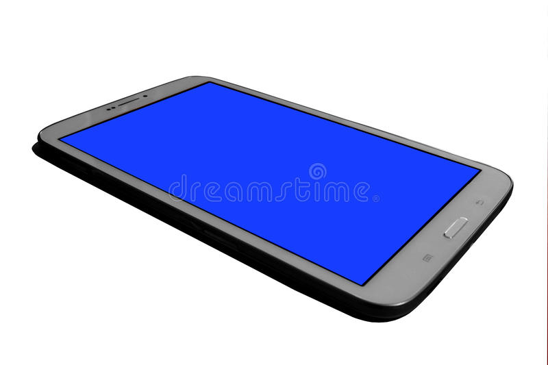 Download Tablet,white stock image. Image of electronic, blue, store - 43465193