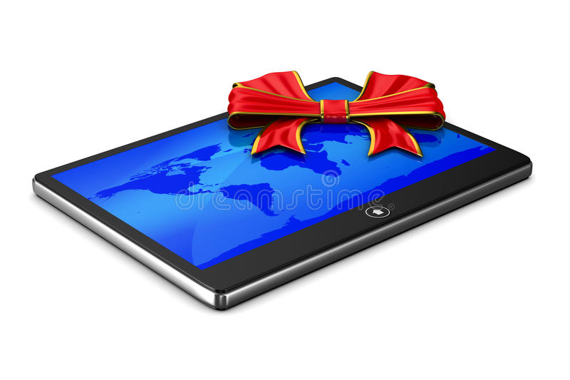 Download Tablet on white background stock illustration. Image of computer - 33864403