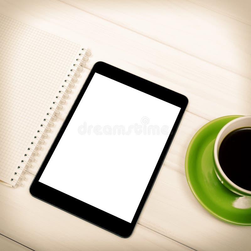 Download Tableta з de Ñ imagen de archivo. Imagen de café, escritorio - 41902729