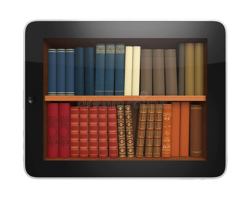 Tableta de la biblioteca de Digitaces ilustración del vector