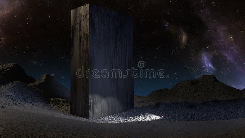 Tableta de piedra enorme en Plutón libre illustration