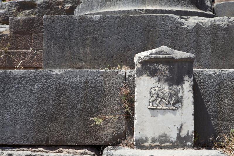 Tableta del griego clásico fotografía de archivo libre de regalías