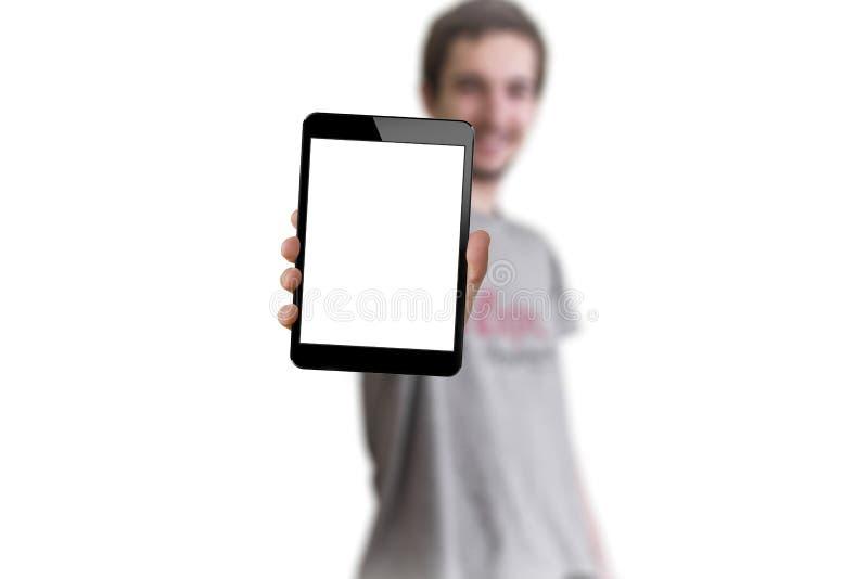 Tableta a disposición fotografía de archivo libre de regalías