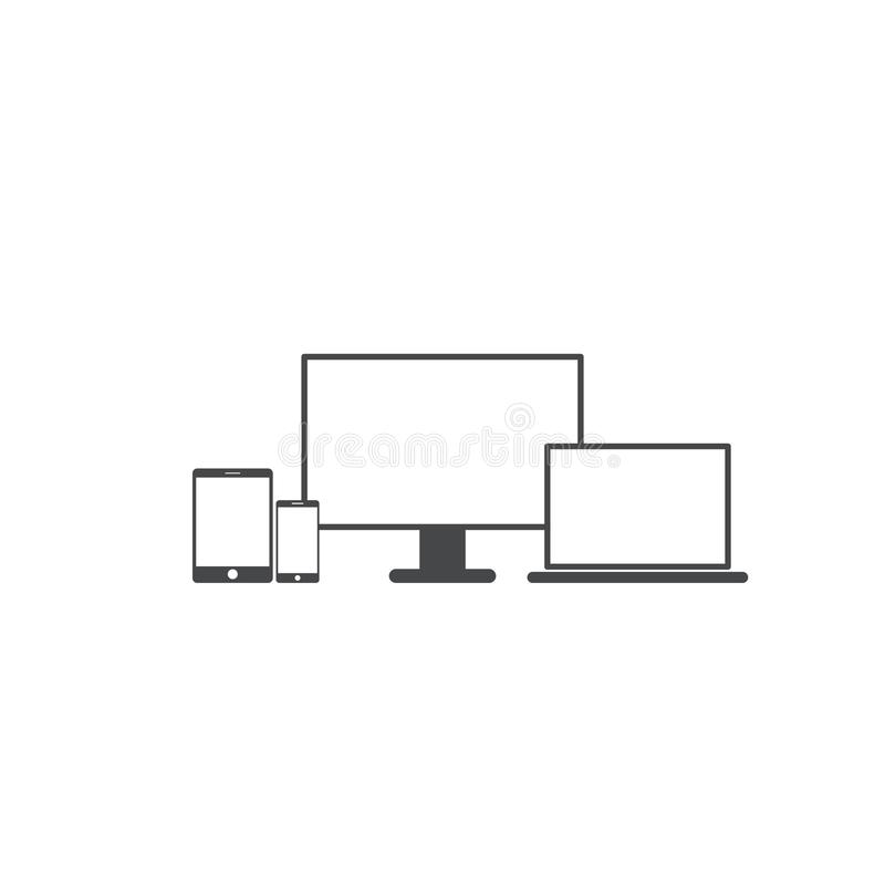 Tableta móvil de los iconos de la PC responsiva del ordenador portátil libre illustration