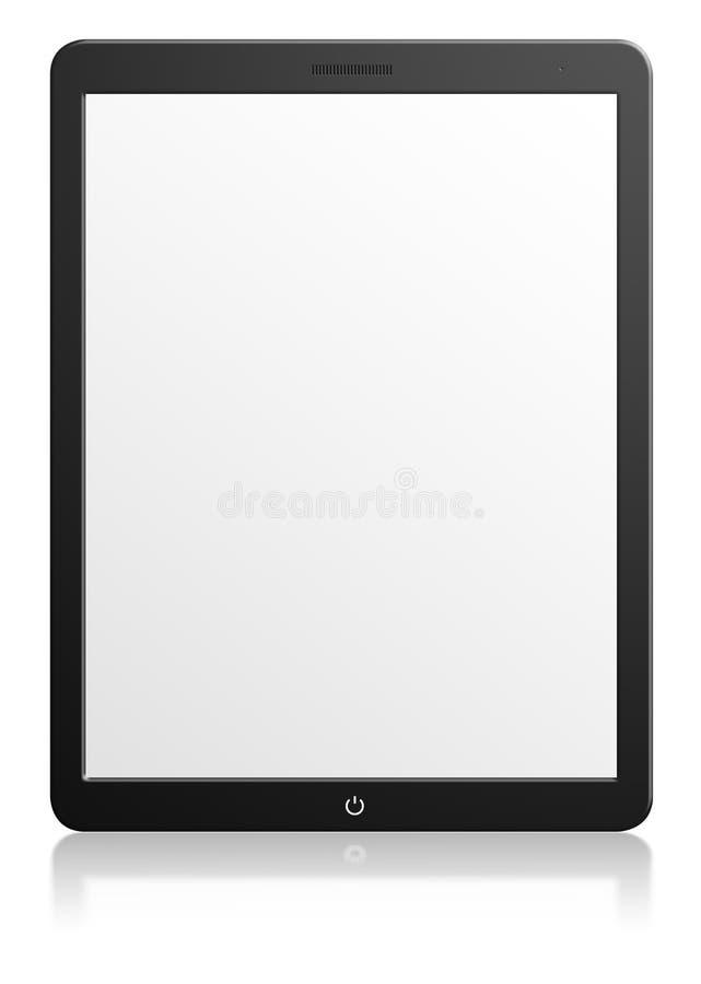Tableta moderna del ordenador con la pantalla en blanco imagen de archivo libre de regalías