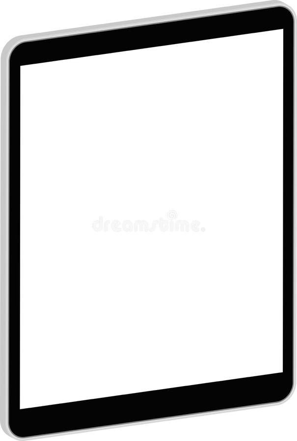 Tableta negra 3D del negocio similar al iPad