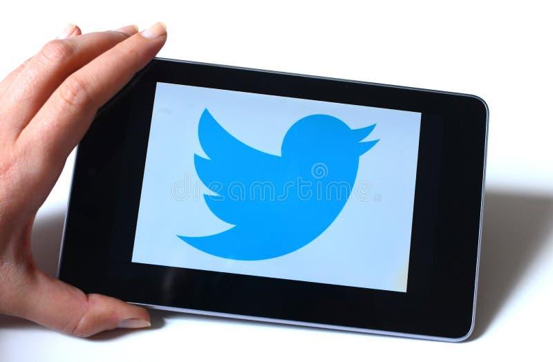 Tableta Twitte fotografía de archivo