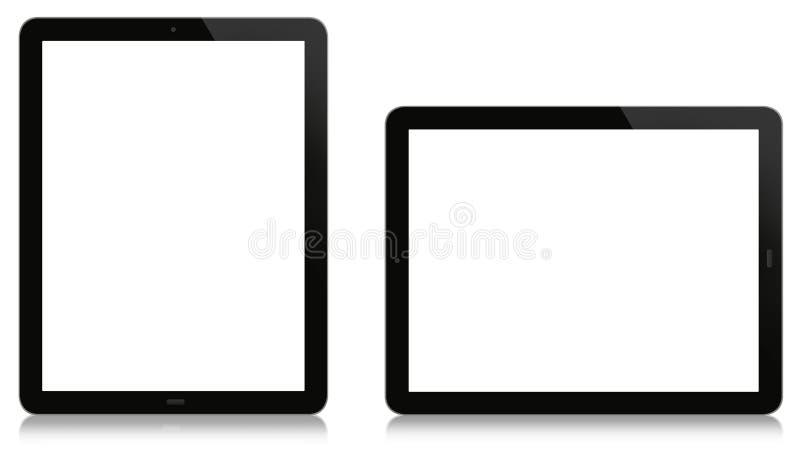 Tableta vertical y horizontal imagenes de archivo