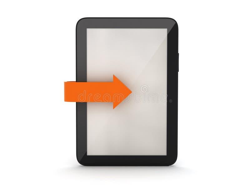 Tabletcomputer vector illustratie