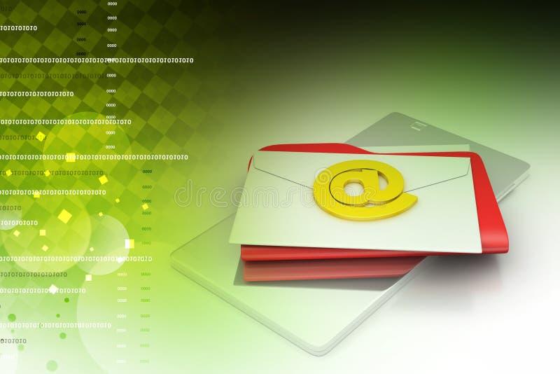 Tabletcomputer met e-mail vector illustratie