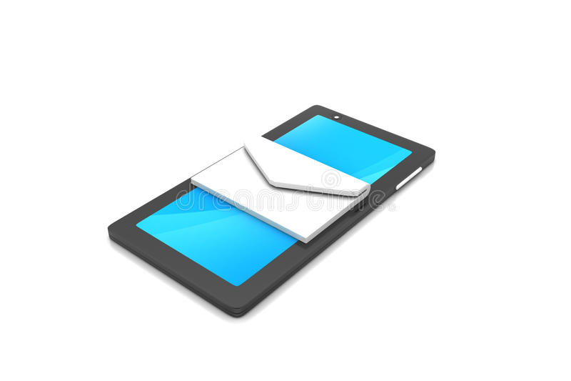 Tabletcomputer met e - post vector illustratie