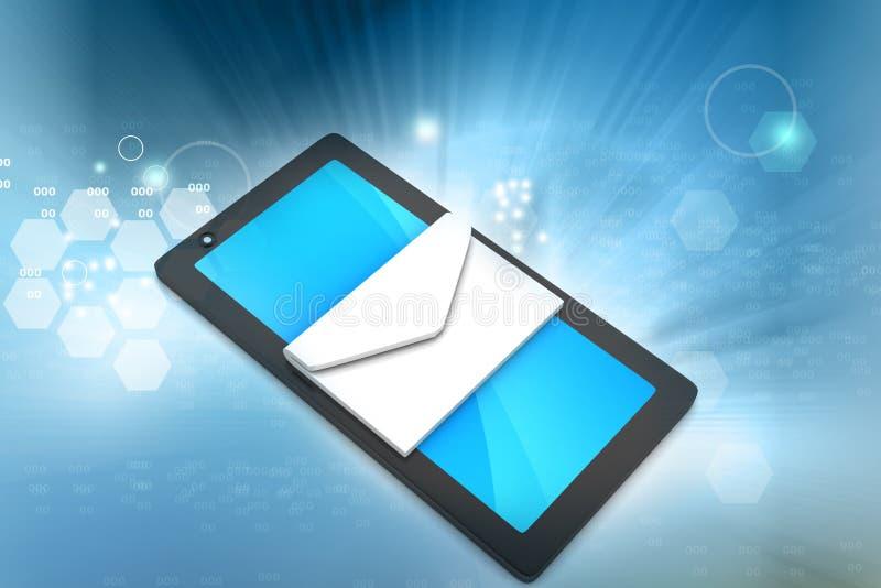 Tabletcomputer met e - post royalty-vrije illustratie