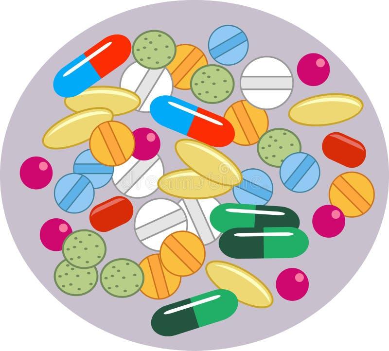 Download Tabletek witaminy ilustracja wektor. Ilustracja złożonej z recepta - 49560