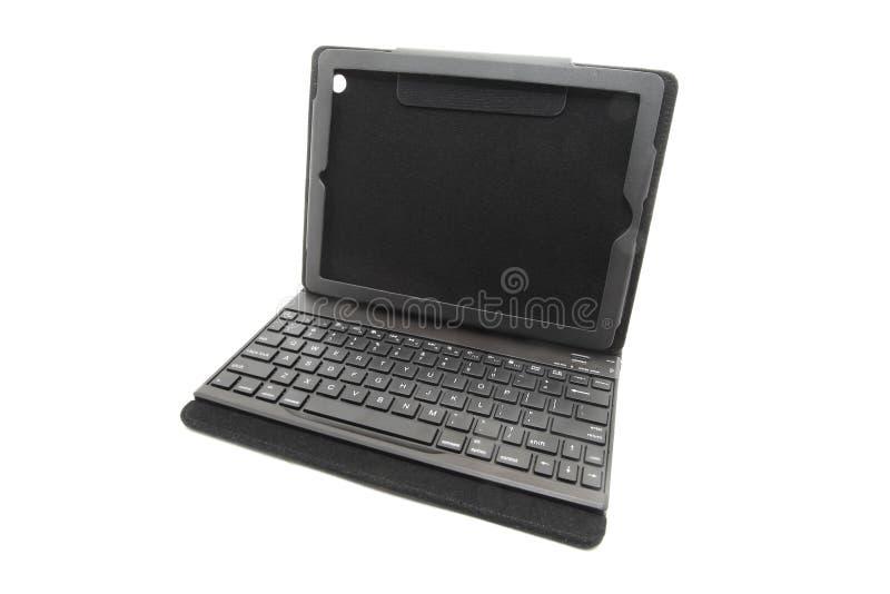 Tabletgeval met toetsenbord stock afbeelding