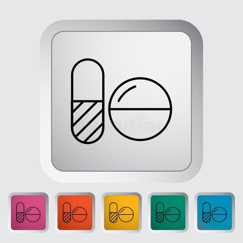 tabletki antykoncepcyjne ilustracja wektor