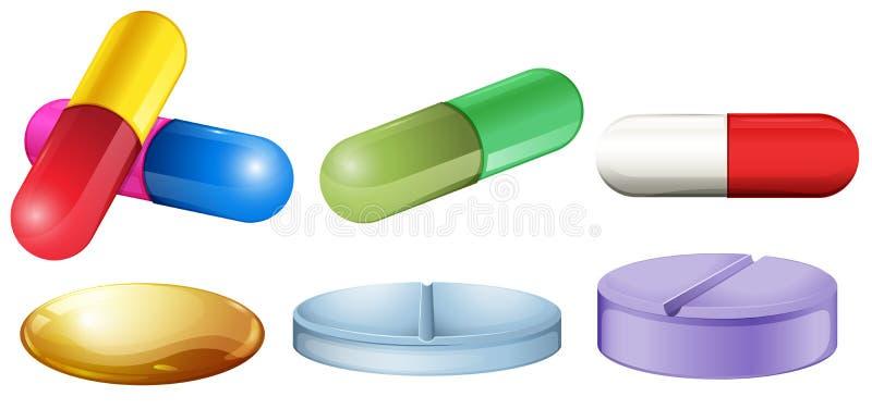 tabletki medyczne ilustracja wektor