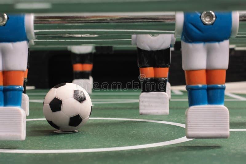 Tabletopfotboll, lag fotografering för bildbyråer