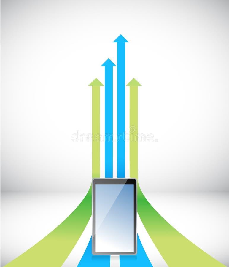 Download Tabletpijl Die Naar Zelfde Richtingssucces Toenemen Stock Illustratie - Illustratie bestaande uit richting, growing: 29509514