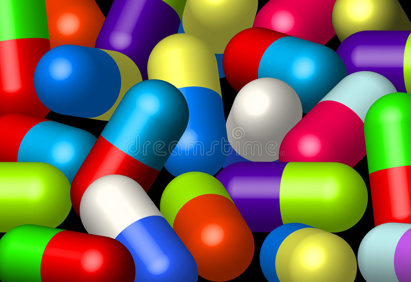 Tablets. Cheerful color tablets ( Additional AI stock illustration