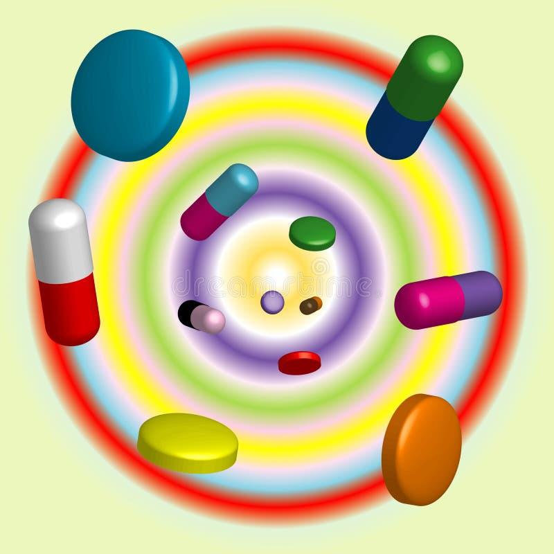 Tablets&pills royalty illustrazione gratis