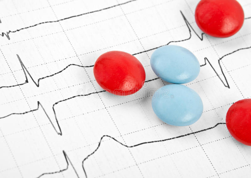 Download Tablets And Capsules For Cardiogram Heart Stock Photo - Image: 22360470