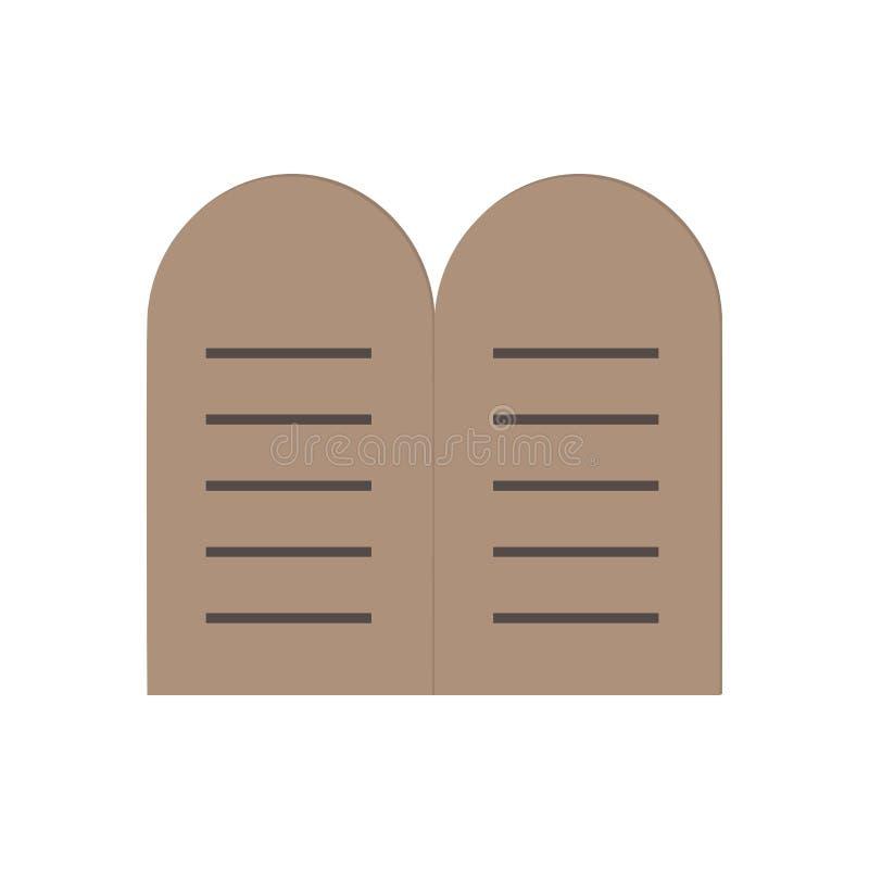 Tablets der Gesetzesikone im flachen Design vektor abbildung