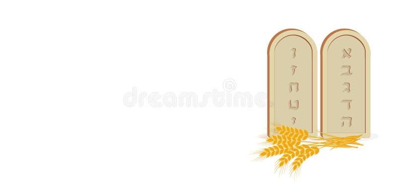 Tablets des Steins und des Weizens lizenzfreie abbildung
