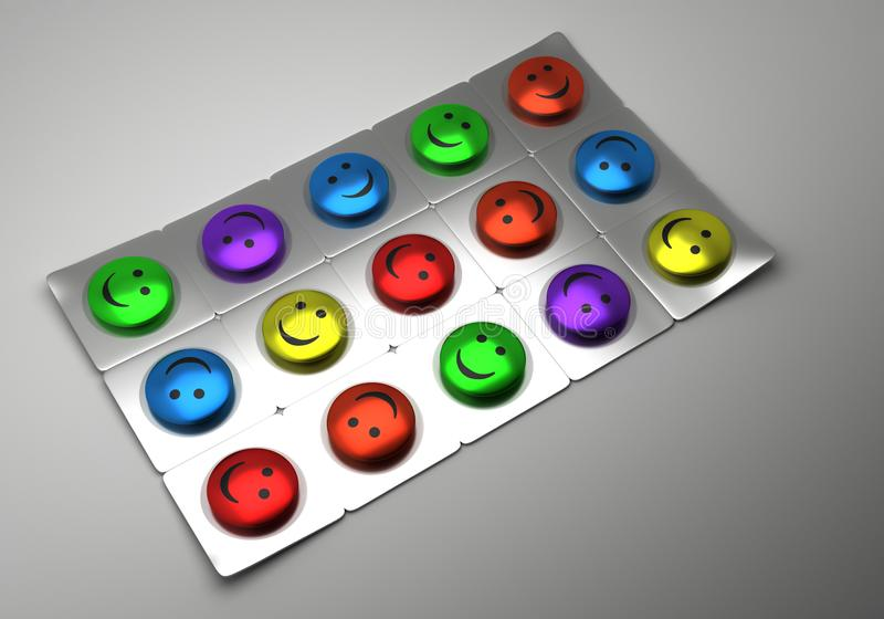 Tablets for a good mood royalty free stock image