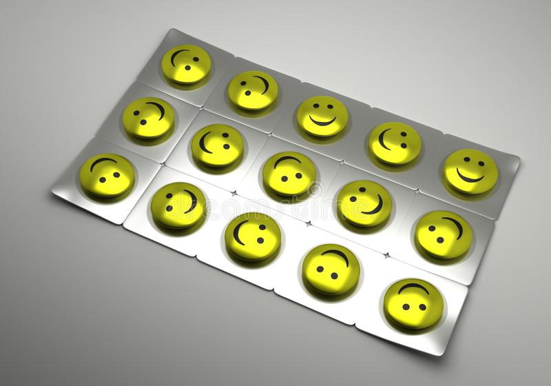Tablets for a good mood royalty free stock images