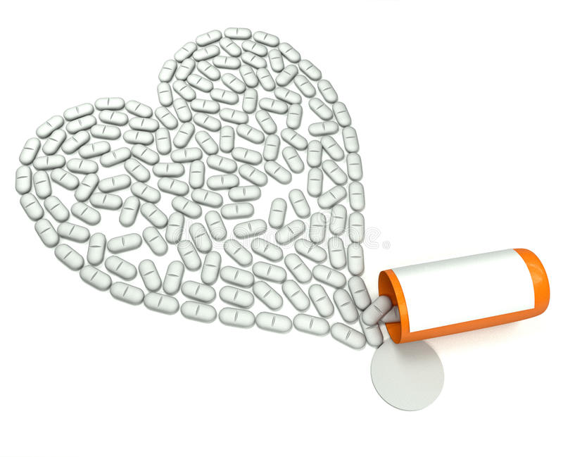 Download Tablets For Heart Stock Photo - Image: 21436790