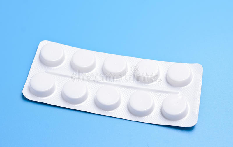 Tablets in packing stock photo