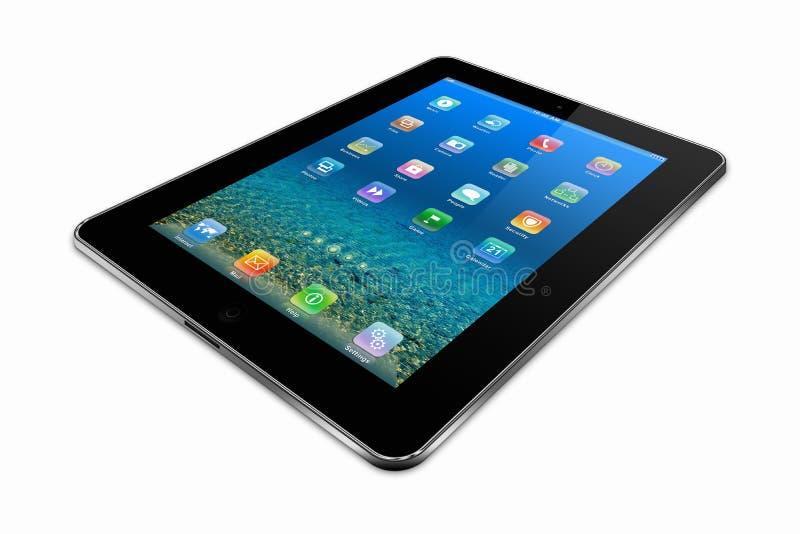 Tablets PC på en vitbakgrund stock illustrationer