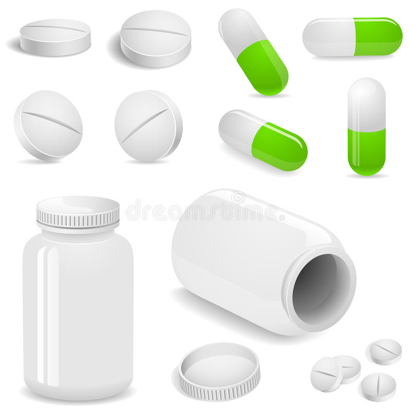 Download Tablets and pills stock vector. Image of medicine, drugs - 13163362