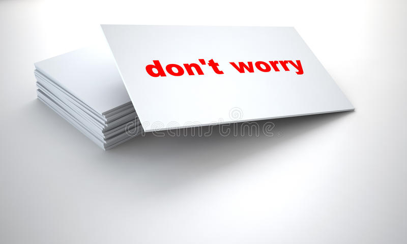 Tablets with sign dont worry